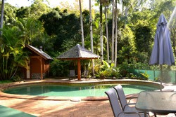 Swimming Pool, Woodfired Sauna & BBQ Area (Guest House) image